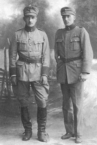 Jaeger Major Gunnar von Hertzen and infantry captain Ragnar Nordström.