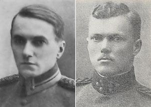 Jaeger Major Gunnar von Hertzen and infantry captain Urho Sihvonen.