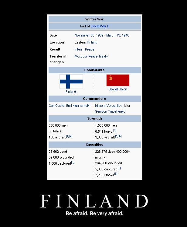 Finland - Be Afraid. Be Very Afraid!