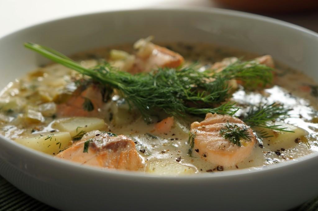 Finnish Salmon Soup - Lohikeitto
