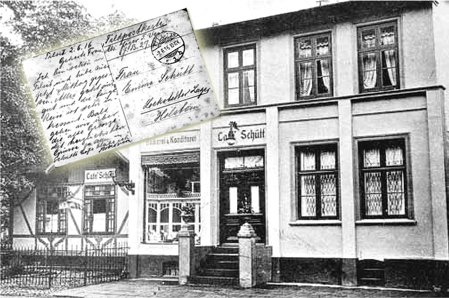 Cafe Schütt. was popular with the Finnish Jaegers