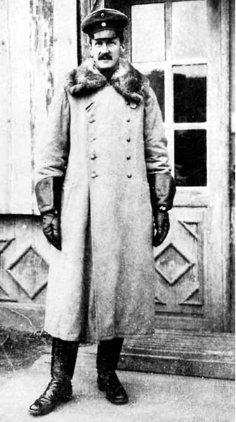 The course leader and commander of the Finnish volunteersfrom January 1917 - Major Maximilian Bayer