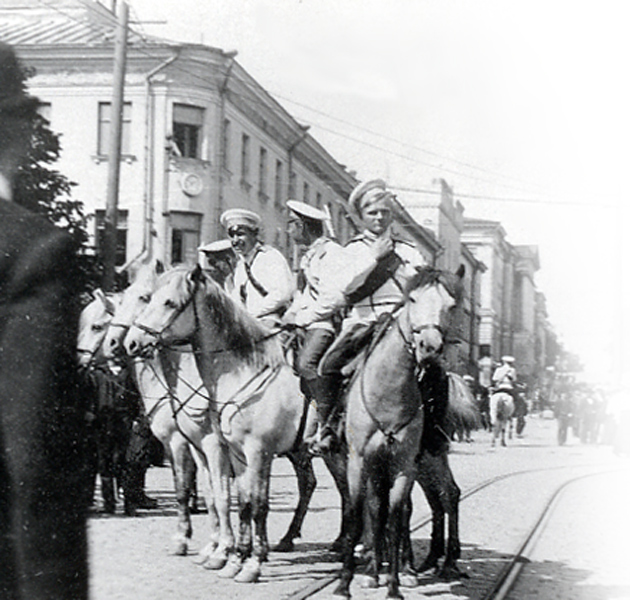 Russian gendarmerie in Helsinki in the early 1900's