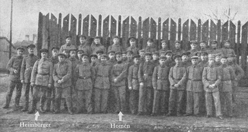 The Communication Section of the 27th Jaeger Battalion, commanded by Lars Homén and Eric Heimbürger