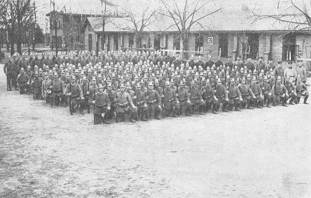Jääkäripataljoona 27:n pioneerikomppania, kuva otettu 5. huhtikuuta 1916. (Engineer Company)