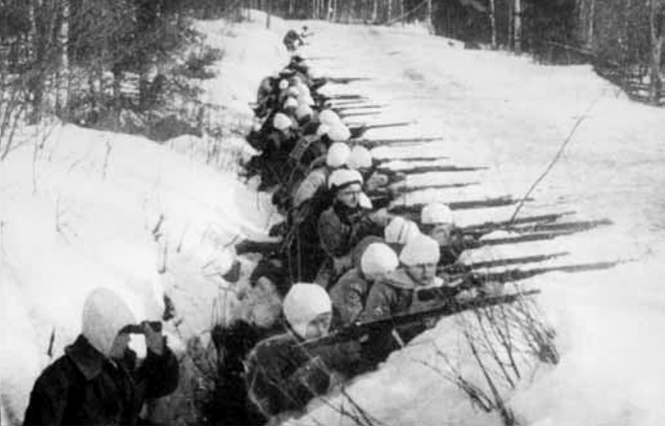 White Army firing line, Ruovesi