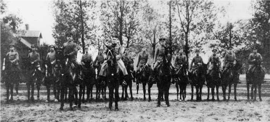 Some of the battalion Cavalry Section at Libau, fall of 1917